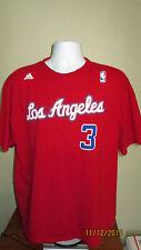 2X Adidas NBA Los Angeles Clippers #3 Chris Paul Short Sleeve Jersey Shirt XXL