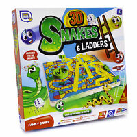 3D Snakes And Ladders Kids Childrens Board Game Traditional Family Toy Fun Gift