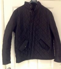 "BNWT MENS BLACK PADDED BARBOUR POWELL JACKET SIZE XXL 52"" CHEST 100% GENUINE"