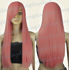 28 inch Heat Resistant Milkshake Pink Long Straight Cosplay Wigs 76KPN