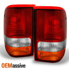Fit 93-97 Ford Ranger Pickup Truck Red Clear Taillights Brake Lamp Replacement