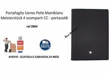Portafoglio Uomo Pelle Montblanc Meisterstück 4 scomparti ref 2664