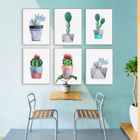 Modern Succulent Plant Cactus Poster Print Home Decor Wall Art Canvas Painting