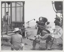JAMES DEAN Giant ROCK HUDSON Géant STEVENS Camera Tournage Photo 1956