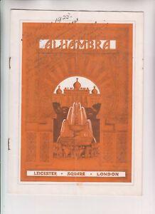 VINTAGE ORIGINAL THEATRE PROGRAMME - Alhambra, April 1923, George Robey