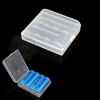 5pcs New White Plastic Battery Case/Box For 4x 14500 AA Li-ion Battery