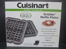 Cuisinart GR-WAFP Griddler Waffle Plates New GRWAFP Griddler Waffle