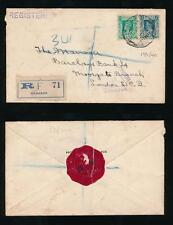 BURMA 1940 REGISTERED WW2 CENSOR HONG KONG + SHANGHAI BANK SEAL