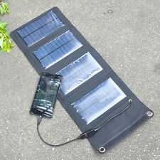 5W 5V USB Rechargeable Power Bank Portable Foldable Solar Panel Battery Pack