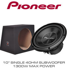 "Pioneer TS-A250S4 10"" Inch Car Bass Sub Subwoofer 1300W + 10"" Box Enclosure"