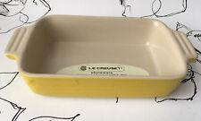 Le Creuset Stoneware Yellow Rectangular Casserole Dish NEW