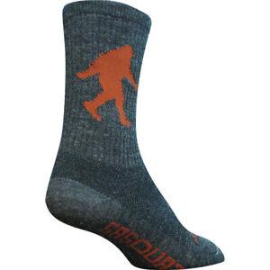 "Sock Guy Wool Sasquatch L/XL Denim/Brown 6"" Crew"