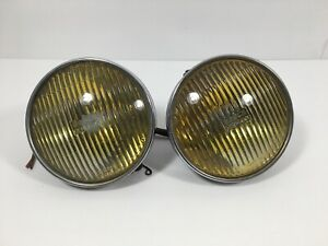 MERCEDES-BENZ W123 240D 300D 300TD 300CD AMBER FOG LAMPS LIGHT SET OEM