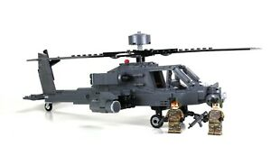 Custom Army Attack Helicopter made with real LEGO® bricks Apache