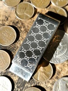 Used / Gucci / G Pattern / Money Clip / *Stamped Sterling
