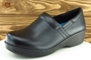 Dr. Scholl's Size 11 W Black Work Clogs Shoes Leather Women
