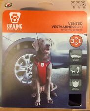 Canine Friendly vented vestHarness 2.0 XL dog 70-110lbs Walk, Restrain 3 in 1