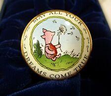 "Halcyon Days Disney Piglet ""May All Your Dreams Come True"" Enamel Box Pooh"