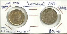 MONEDA DE 100 PESETAS de 1999 (PERLAS PEGADAS) ERROR COIN