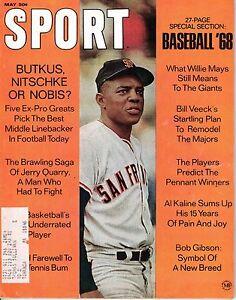 1968 (May) Sport Magazine baseball Willie Mays San Francisco Giants, w/Label~ VG