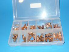54 Pcs CL70 Cable Copper Lug Terminal Assortment Wiring Automotive2 4 6 & Guage