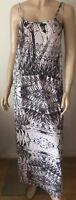 RIVER ISLAND Grey & White Geometric Patterned Sleeveless Dress Size 6