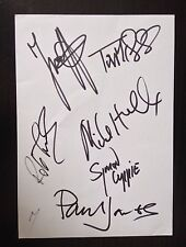 PAUL JONES & THE MANFREDS - CHART TOPPING BAND - SIGNED LARGE WHITE CARD