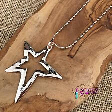 LONG STAR NECKLACE AND PENDANT NICKLE FREE ROSE GOLD  COLOURED  85 CM