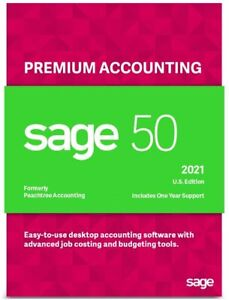 SAGE 50 PREMIUM 2021 U.S. 3-USERS Business Accounting Software (DVD)