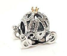 Genuine Pandora Disney Cinderella's Pumpkin Carriage Coach Charm Sterling Silver