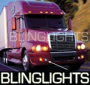 Freightliner Century White Halo Fog Lamps Angel Eye Driving Light Kit Foglamps
