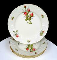 "ROSENTHAL CLASSIC MOSS ROSE SANSSOUCCI IVORY 4 PIECE 7 7/8"" SALAD PLATES 1961-"