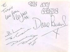 The Ivy League + Billy Burden signed autograph album page English vocal trio