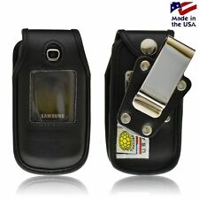 Turtleback Samsung C414 Leather Fitted Phone Case With Rotating Metal Belt Clip