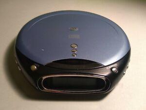 Durabrand Portable CD Player & Headphones, CD-855, Anti-Skip, Purple, TESTED