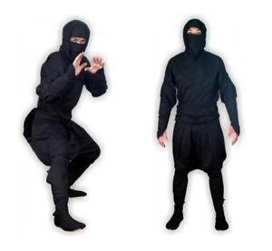 Shinobi Shozoku Real Ninja Outfit, Bujinkan Ninjutsu Authentic Ninja Uniform
