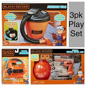 Black + Decker Kids 44pc Shop Set- Mega Tools, Junior Vac, Jigsaw Lights&Sounds