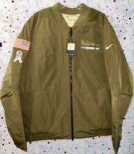 b181a021e Miami Dolphins NFL Nike 2017 Salute to Service Reversible Bomber Jacket  Size 2x