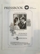 "The Abdication Pressbook 1974 8Pages 11"" x 14"" Movie Poster Art Peter Finch 149"