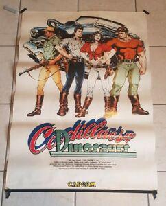 Cadillacs and Dinosaurs POSTER ORIGINALE Capcom 1992 raro