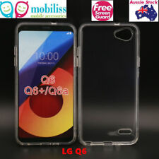 TPU Gel Jelly iSkin Case Cover for LG Q6 - Ultra Clear Free Screen Protector