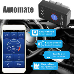 Advanced Bluetooth OBD 2 Car Scanner Code Reader for Android iPhone Diagnostic