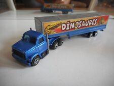 "Majorette Truck + Trailer ""Dinosaures"" in Blue/Grey"