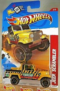 2012 Hot Wheels #218 Thrill Racers-Prehistoric JEEP SCRAMBLER Mustard w/OROH6 SP
