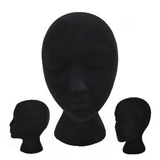 Black Foam Maniquin Head Wigs Caps Glasses Display Wig Stand Female Model