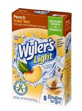60 Wyler's Light Peach Iced Tea Singles to Go Sugar Free Drink Mix 6 Boxes