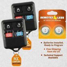 2 For 2000 2001 2002 2003 2004 Ford Focus Remote Car Keyless Entry Key Fob