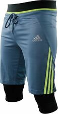 adidas Tech 2 in 1 Mens Boxing Shorts Grey MMA Combat Training Gym Workout Short