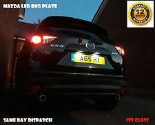 Mazda 2 3 6 CX3 CX5 MX5 Bombillas LED número de licencia Reg Placa Larga Vida 501 T10 W5W