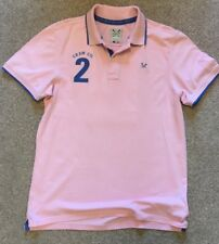 GORGEOUS CREW CLOTHING BABY PINK RUGBY POLO SHIRT LARGE BACK NO 2 L LARGE
